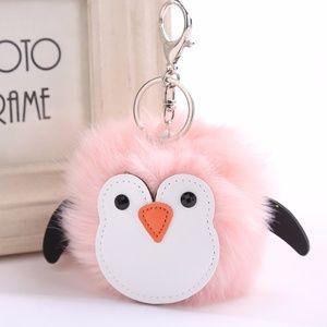 Accessories - NEW Cute Penguin Pom Pom Handbag Charm / Keychain